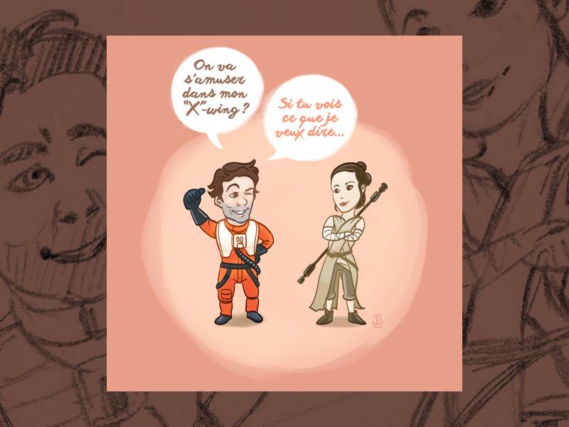 Carte de St-Valentin geek, Star Wars épisode 7