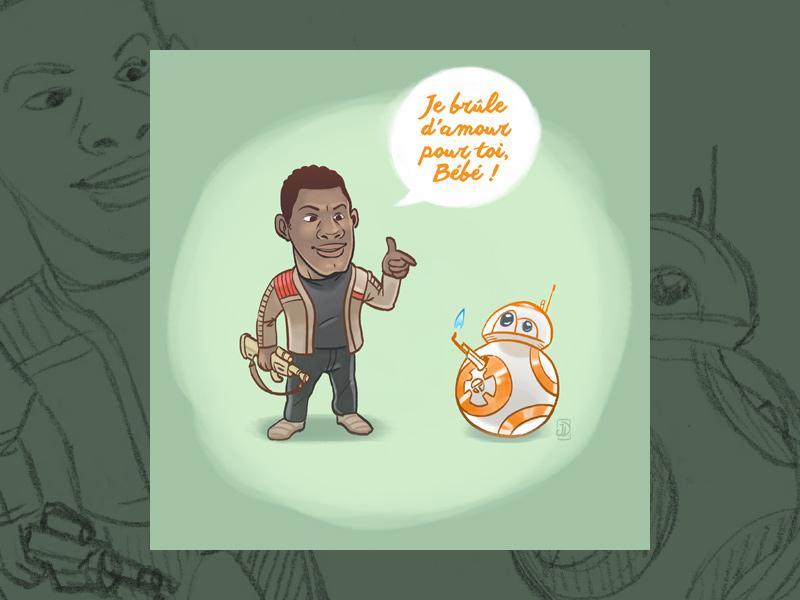 Carte geek pour la Saint-Valentin avec Star Wars