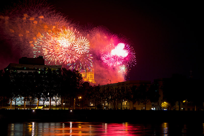 Photo de feux d'artifice, photographe à Chalon sur Saône