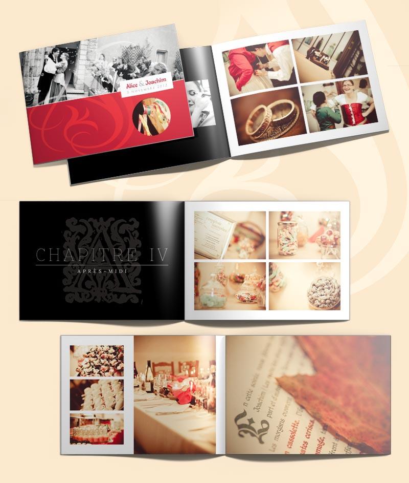 Graphiste pour la création d'un album photo de mariage