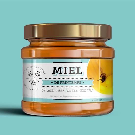 Création d'étiquettes pour pots de miel (packaging)
