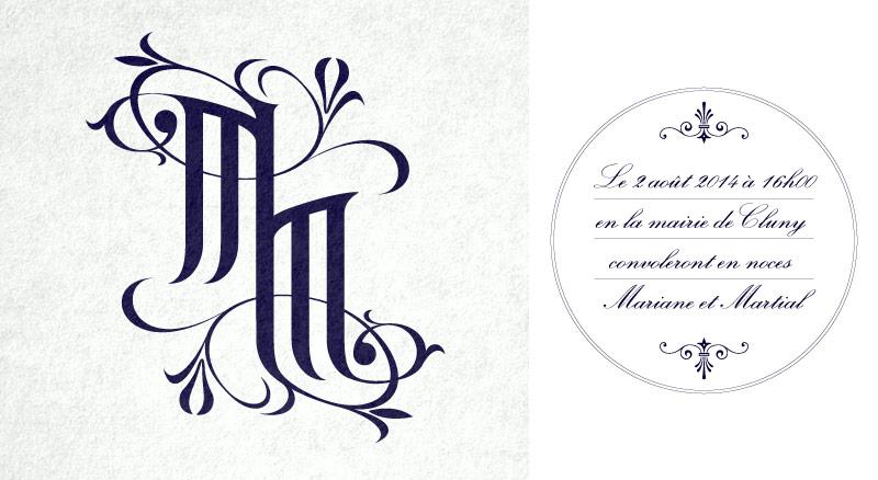 Graphiste, création graphique de logo, monogramme à Chalon
